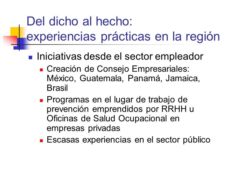 Del dicho al hecho: experiencias prácticas en la región