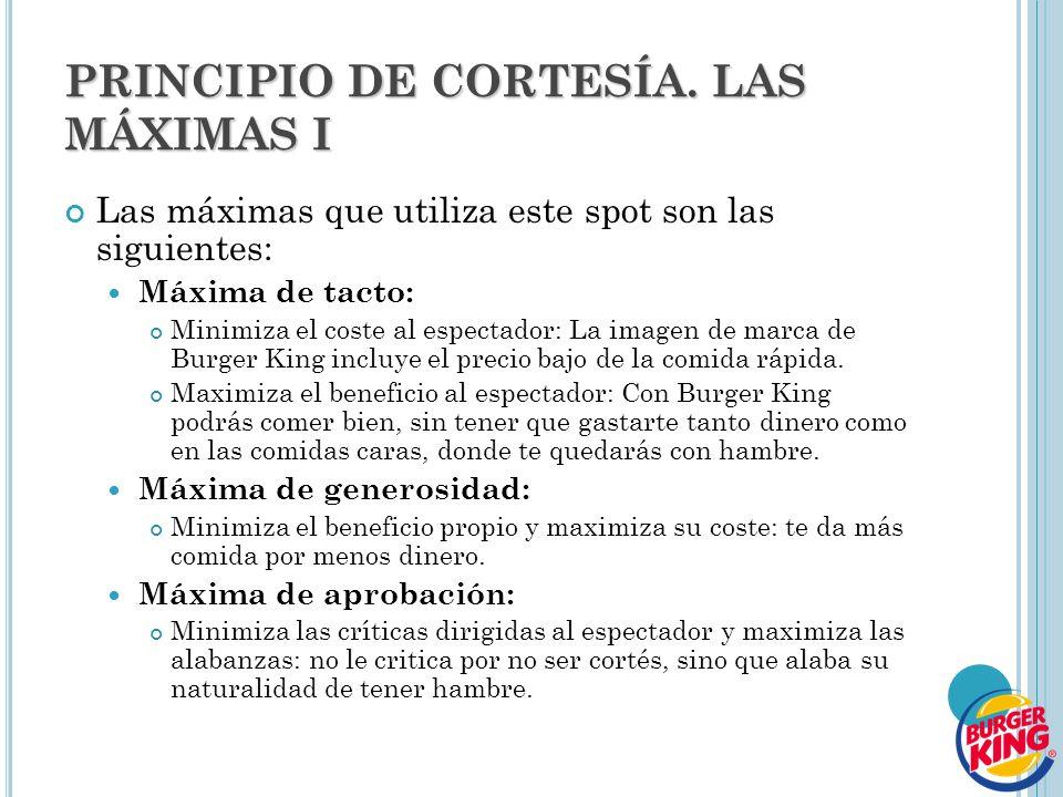 PRINCIPIO DE CORTESÍA. LAS MÁXIMAS I