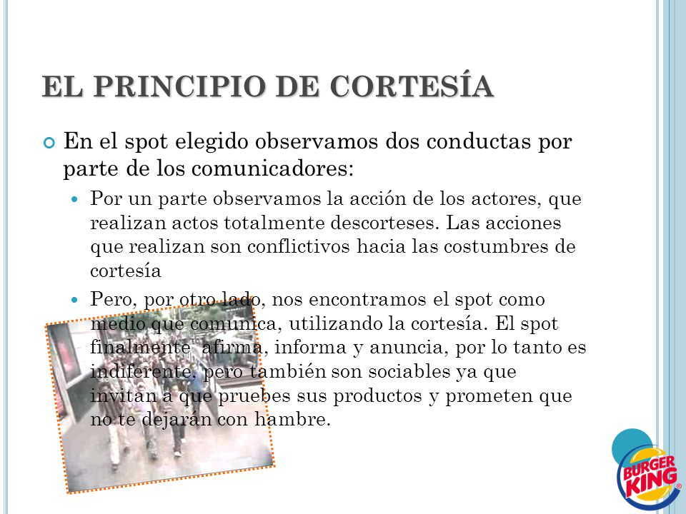 EL PRINCIPIO DE CORTESÍA