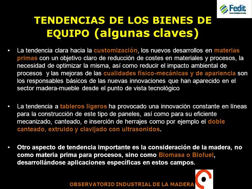 TENDENCIAS DE LOS BIENES DE EQUIPO (algunas claves)