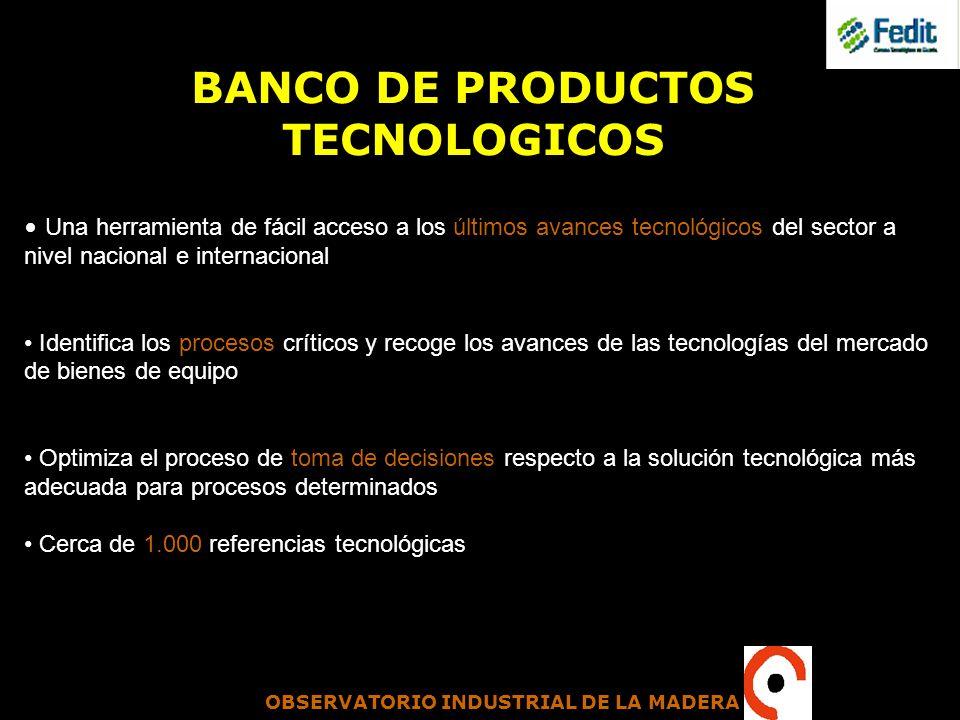 BANCO DE PRODUCTOS TECNOLOGICOS