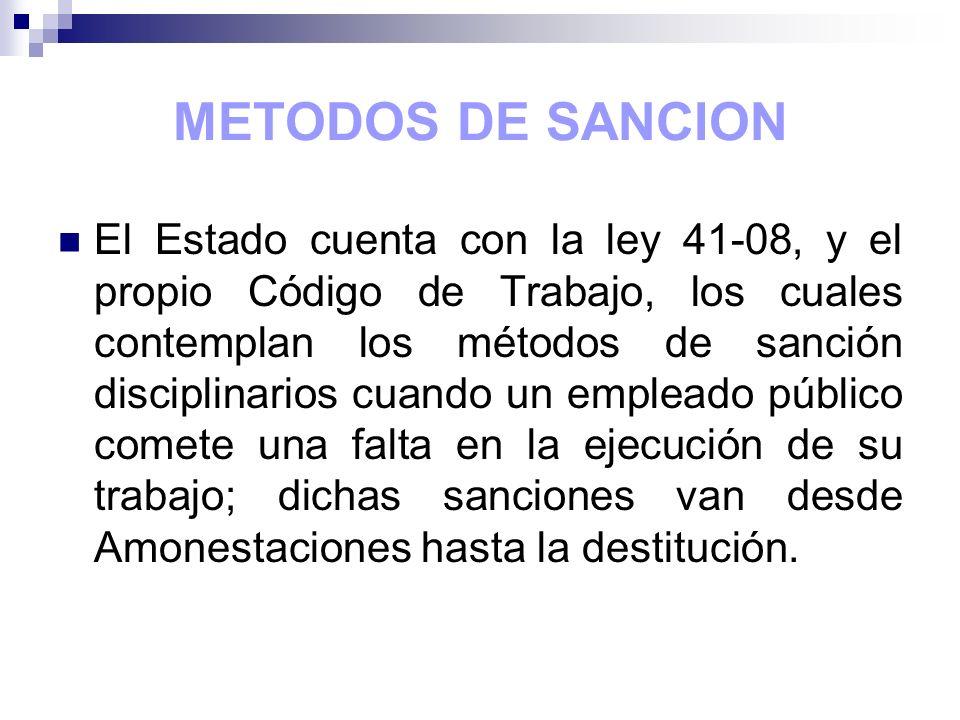 METODOS DE SANCION