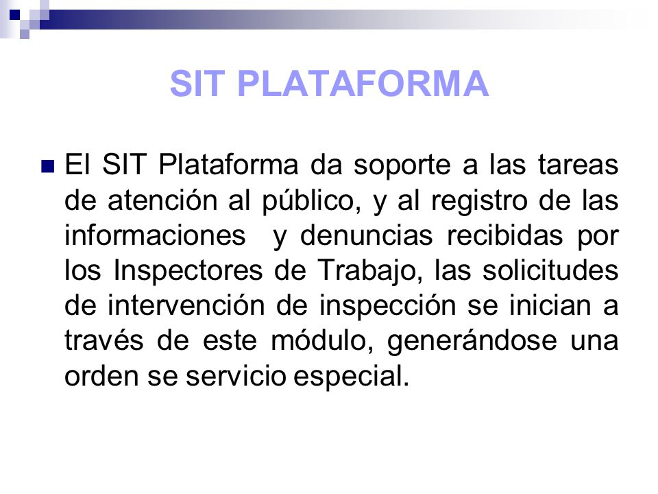 SIT PLATAFORMA