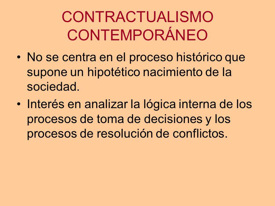 CONTRACTUALISMO CONTEMPORÁNEO