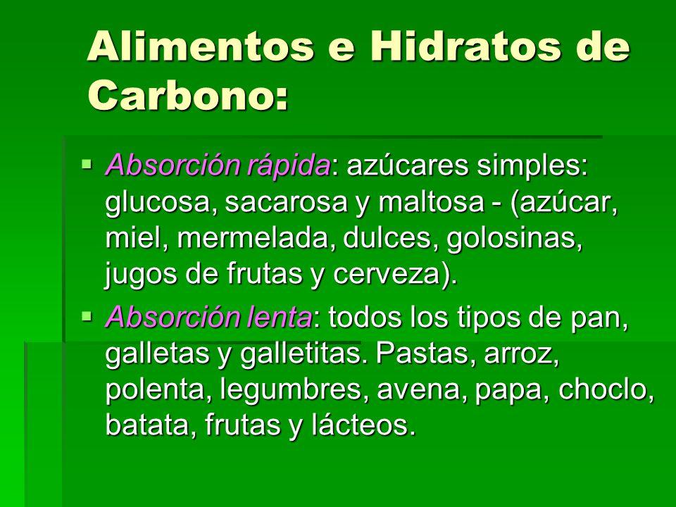 Alimentos e Hidratos de Carbono:
