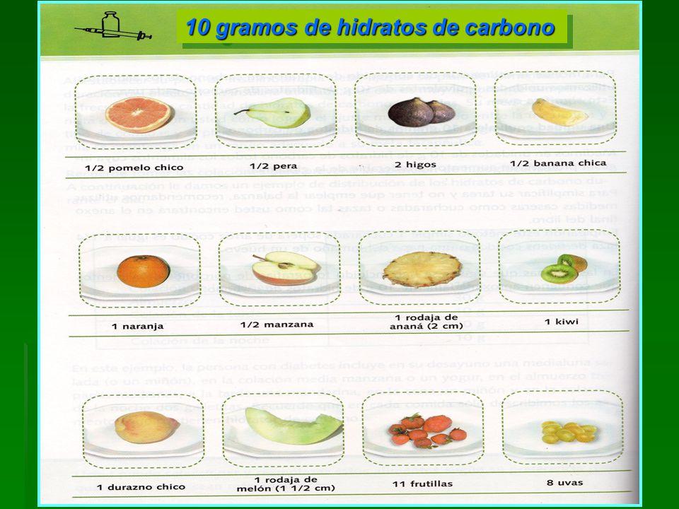 10 gramos de hidratos de carbono