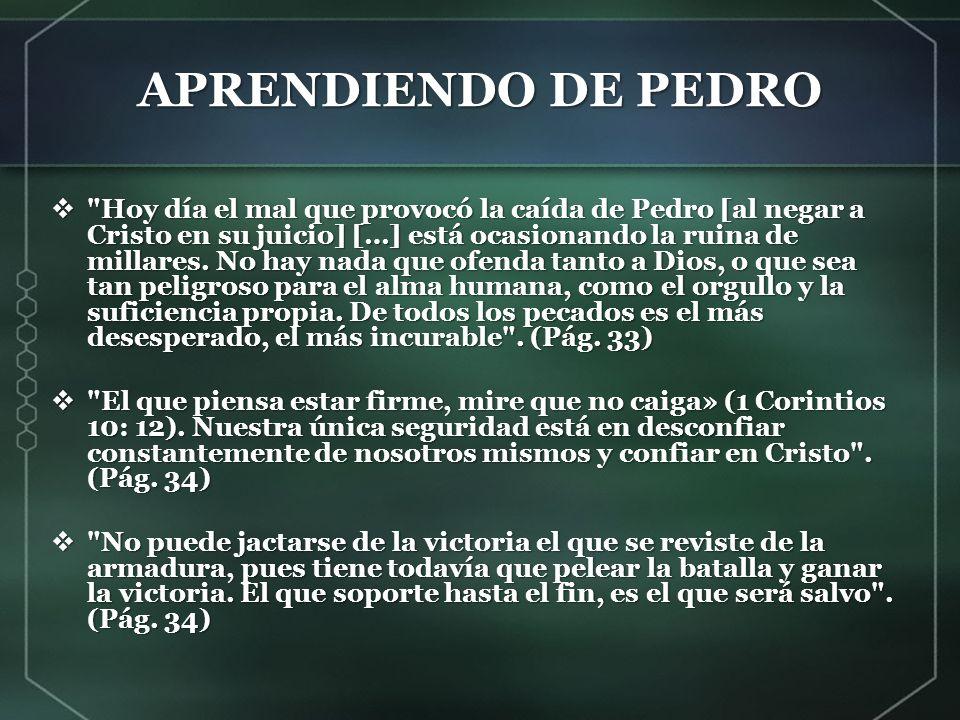 APRENDIENDO DE PEDRO