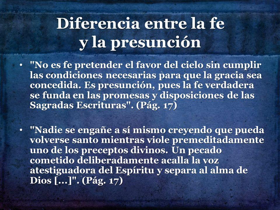 Diferencia entre la fe y la presunción
