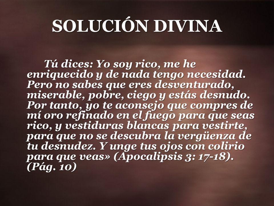SOLUCIÓN DIVINA