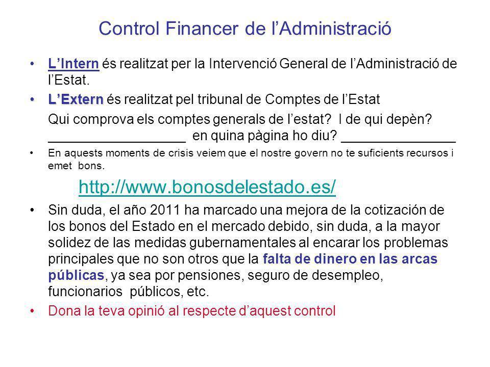 Control Financer de l'Administració