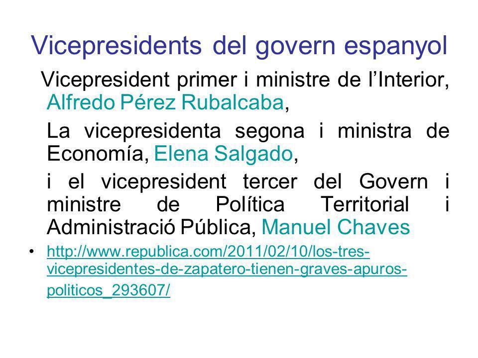 Vicepresidents del govern espanyol