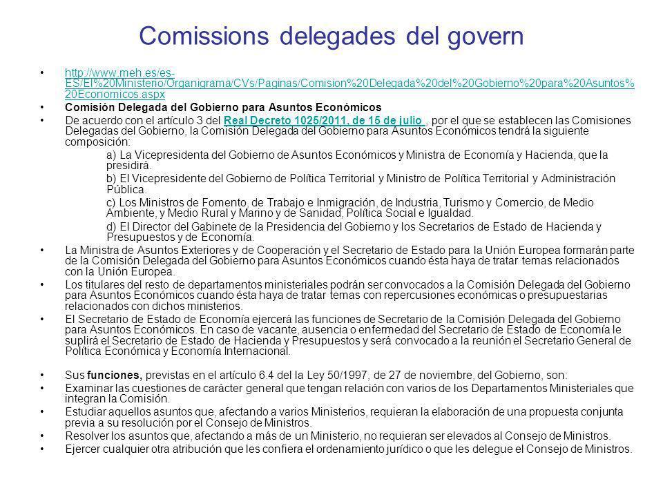 Comissions delegades del govern