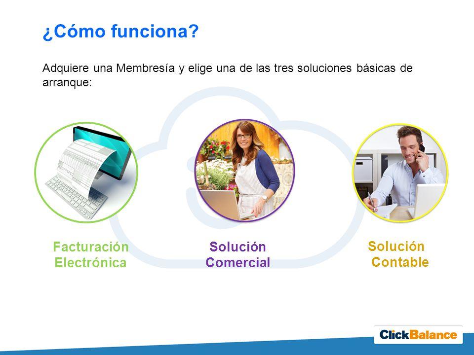 ¿Cómo funciona Facturación Electrónica Solución Comercial Solución