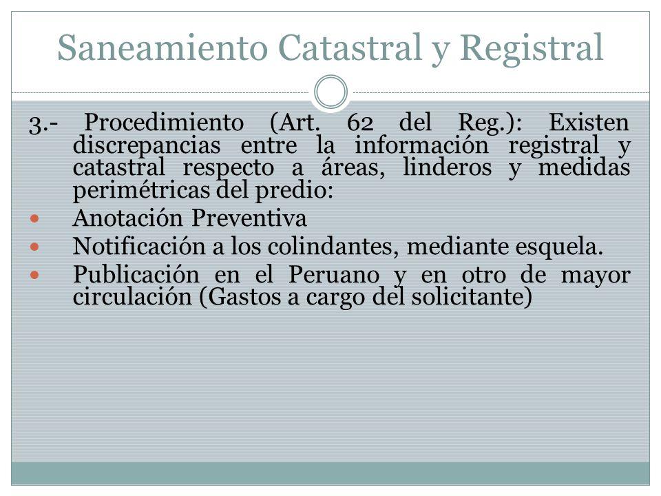 Saneamiento Catastral y Registral