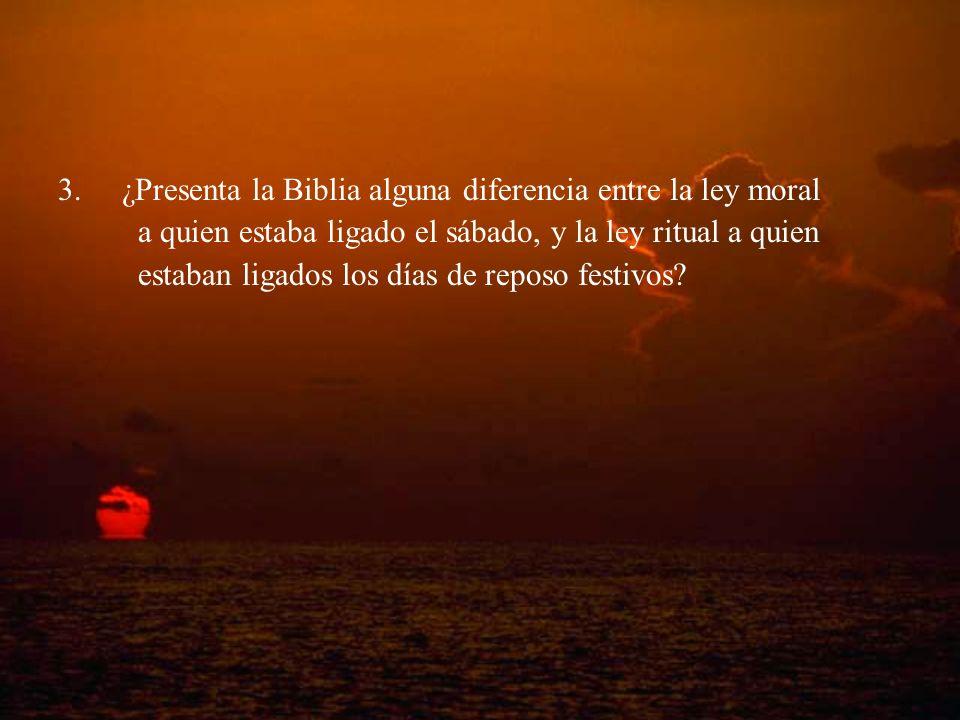 ¿Presenta la Biblia alguna diferencia entre la ley moral