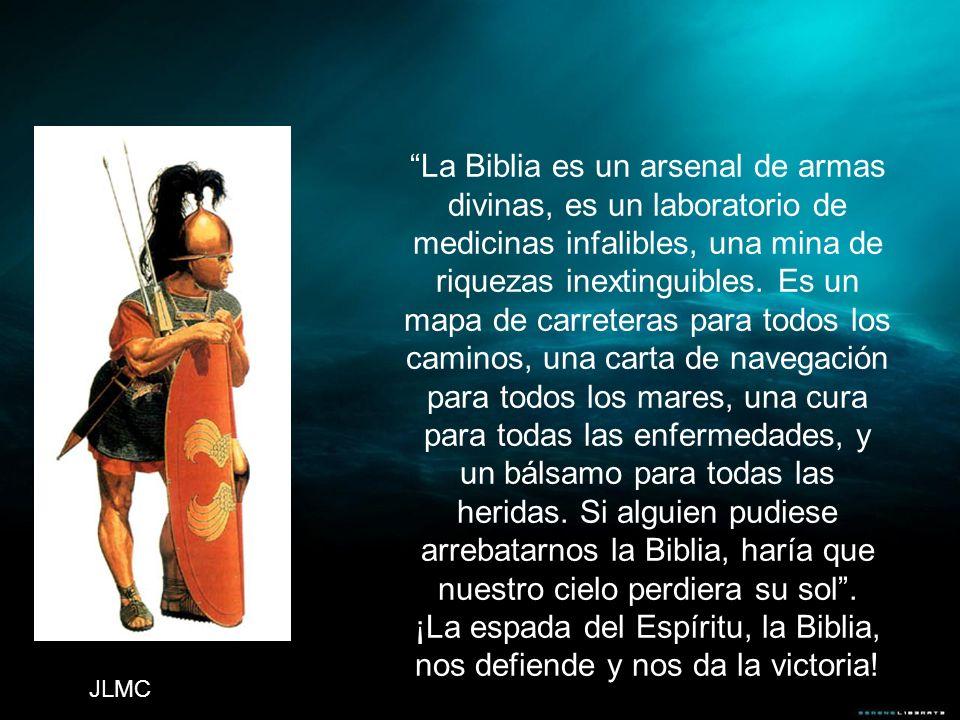 ¡La espada del Espíritu, la Biblia, nos defiende y nos da la victoria!