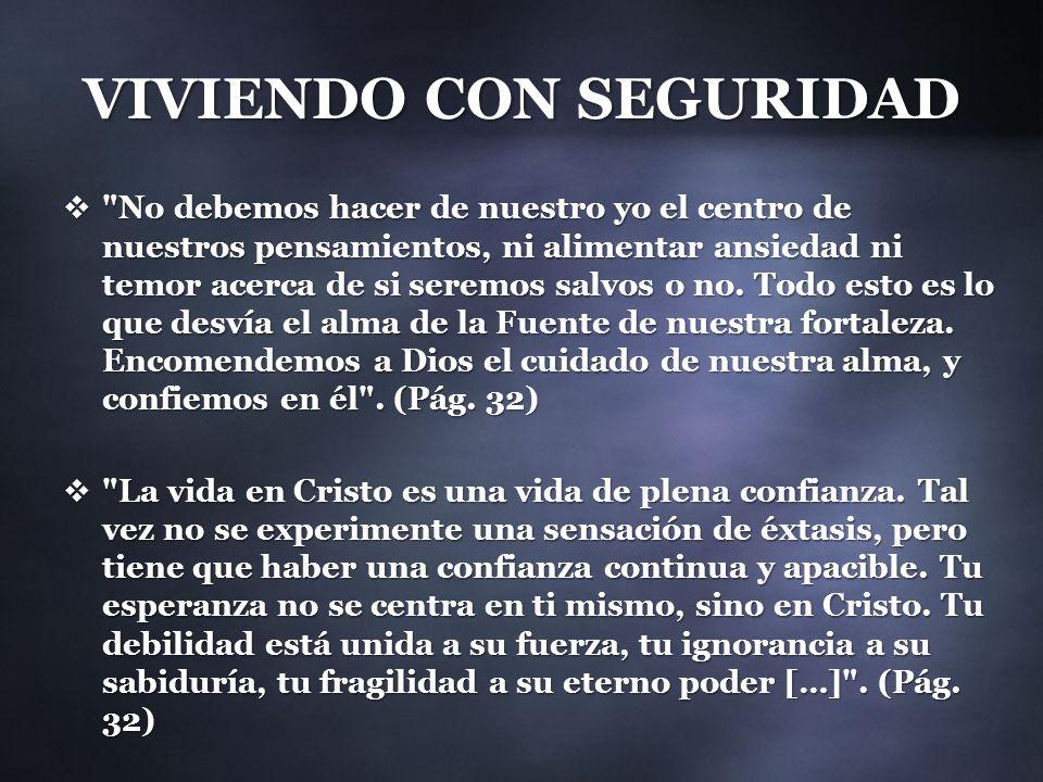 VIVIENDO CON SEGURIDAD