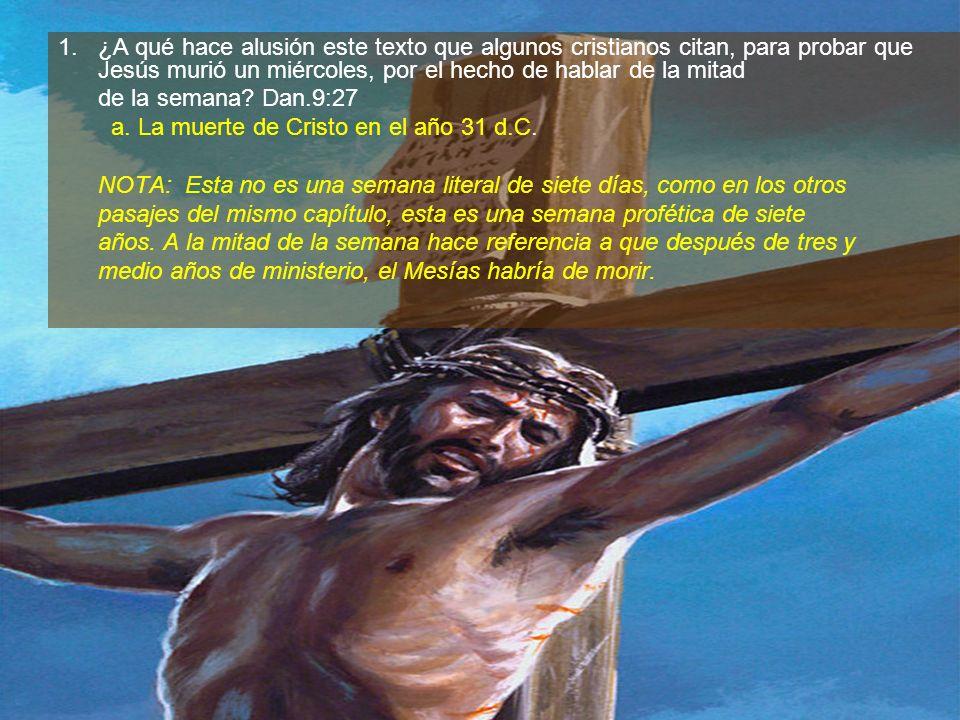 ¿A qué hace alusión este texto que algunos cristianos citan, para probar que Jesús murió un miércoles, por el hecho de hablar de la mitad