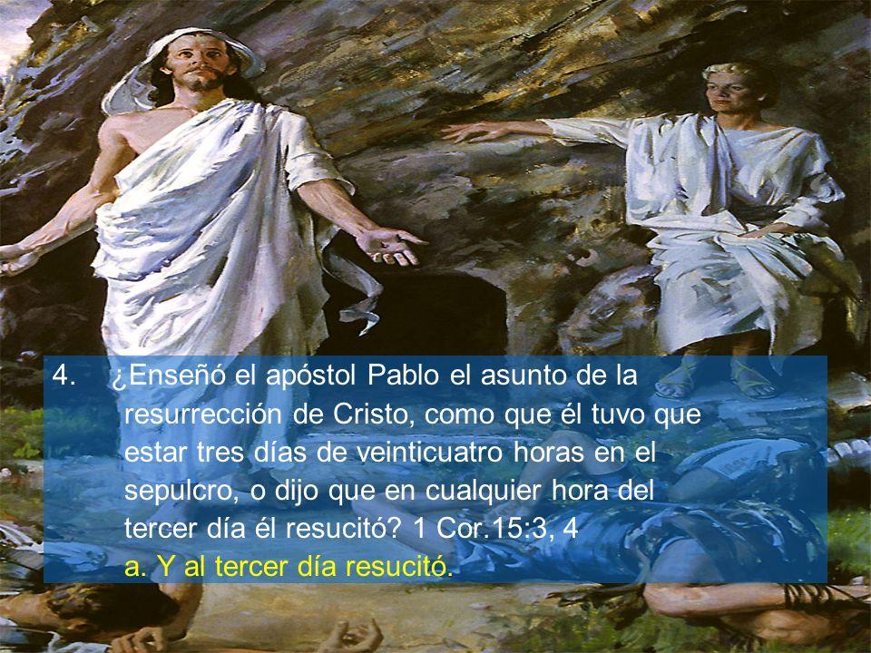 ¿Enseñó el apóstol Pablo el asunto de la