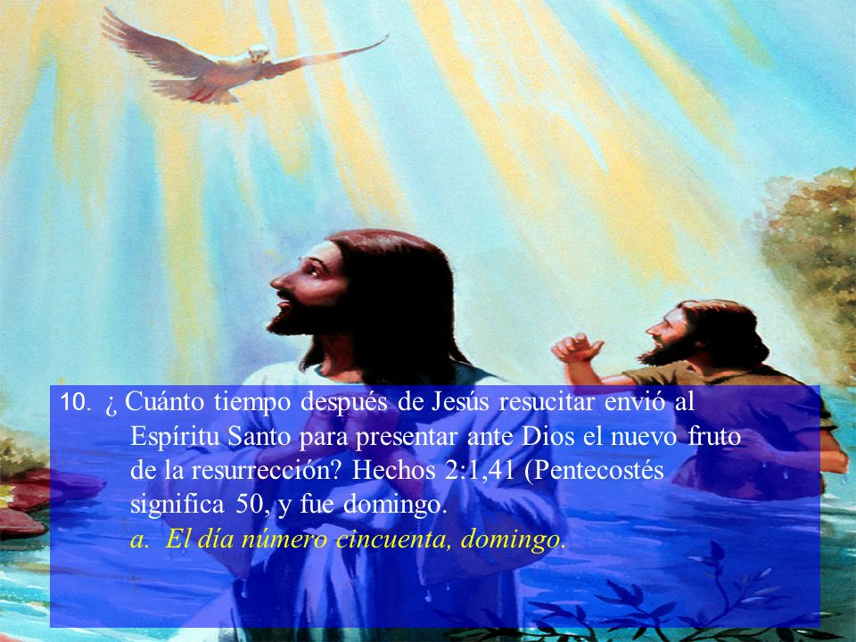 Espíritu Santo para presentar ante Dios el nuevo fruto