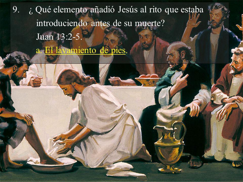 ¿ Qué elemento añadió Jesús al rito que estaba