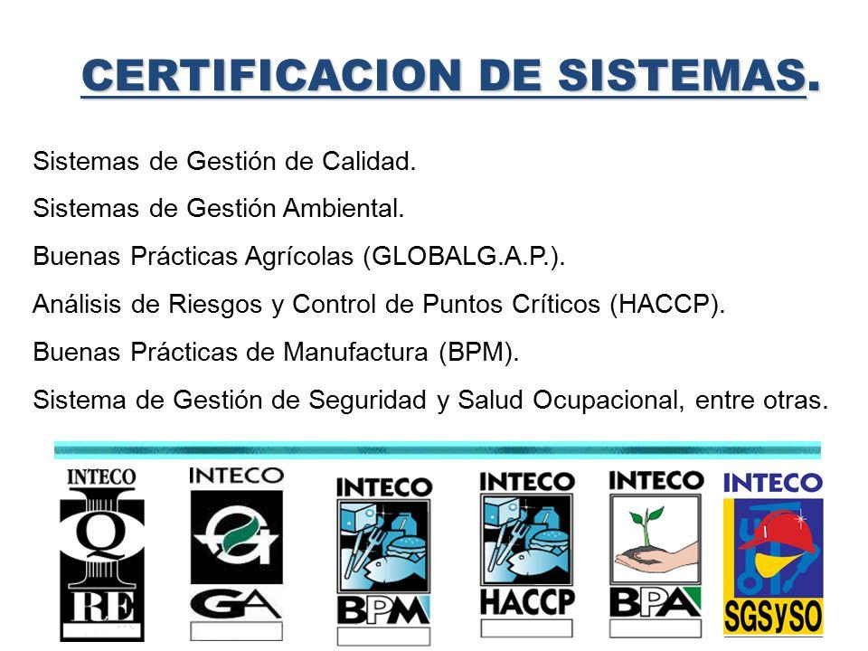 CERTIFICACION DE SISTEMAS.