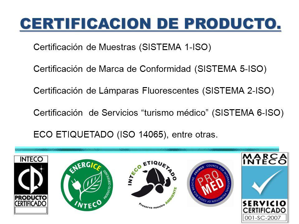 CERTIFICACION DE PRODUCTO.