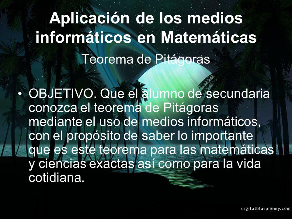 Aplicación de los medios informáticos en Matemáticas