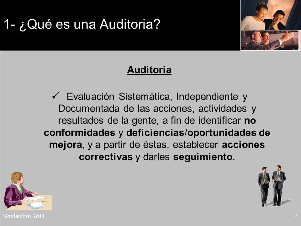 1- ¿Qué es una Auditoria Auditoria