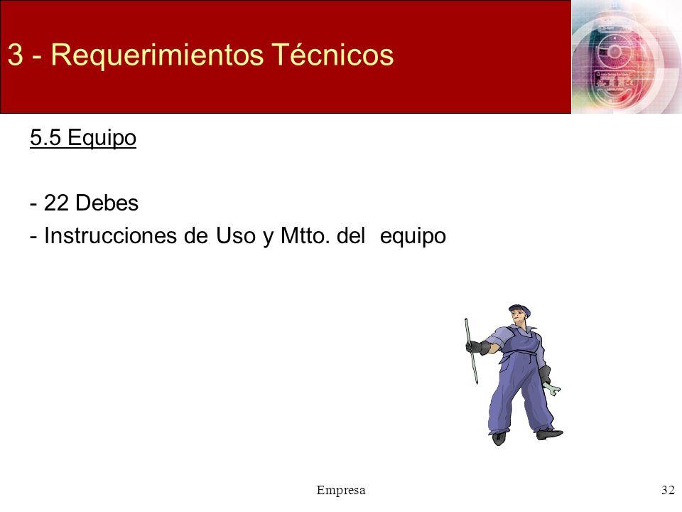 3 - Requerimientos Técnicos