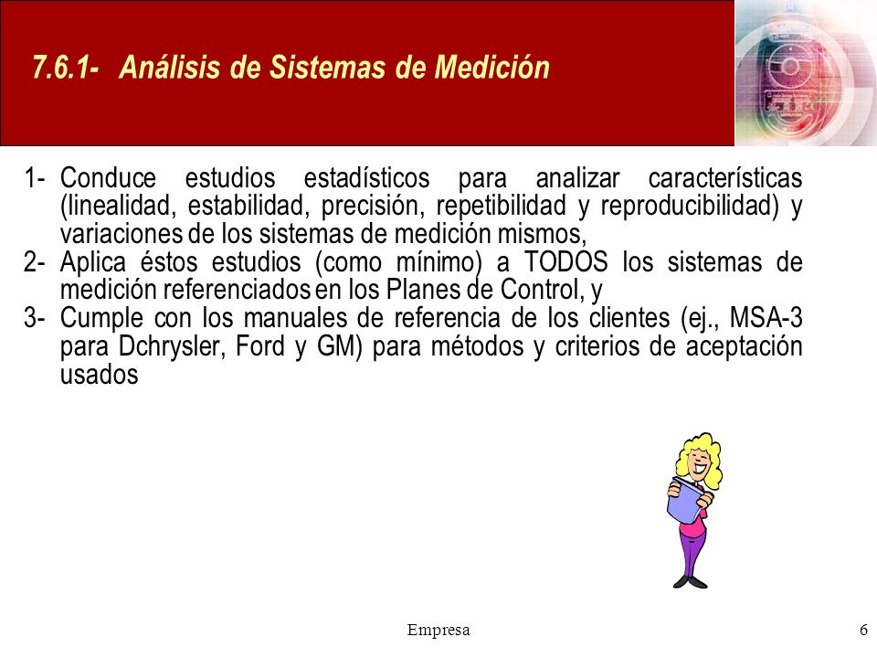 7.6.1- Análisis de Sistemas de Medición