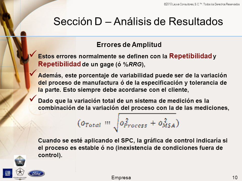 Sección D – Análisis de Resultados