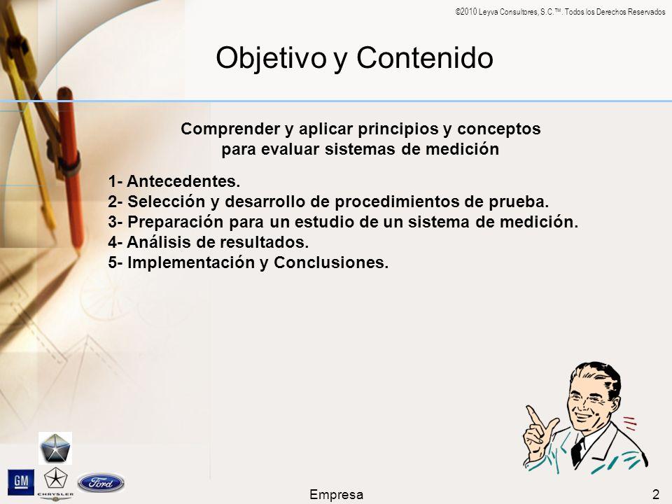 Objetivo y Contenido Comprender y aplicar principios y conceptos