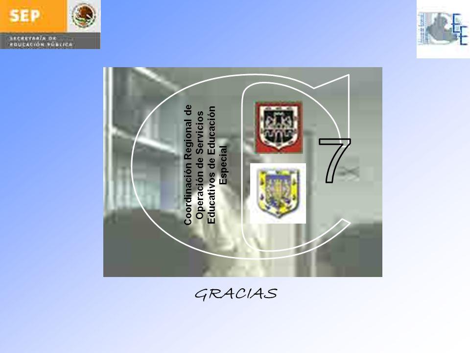C Coordinación Regional de Operación de Servicios Educativos de Educación Especial 7 GRACIAS