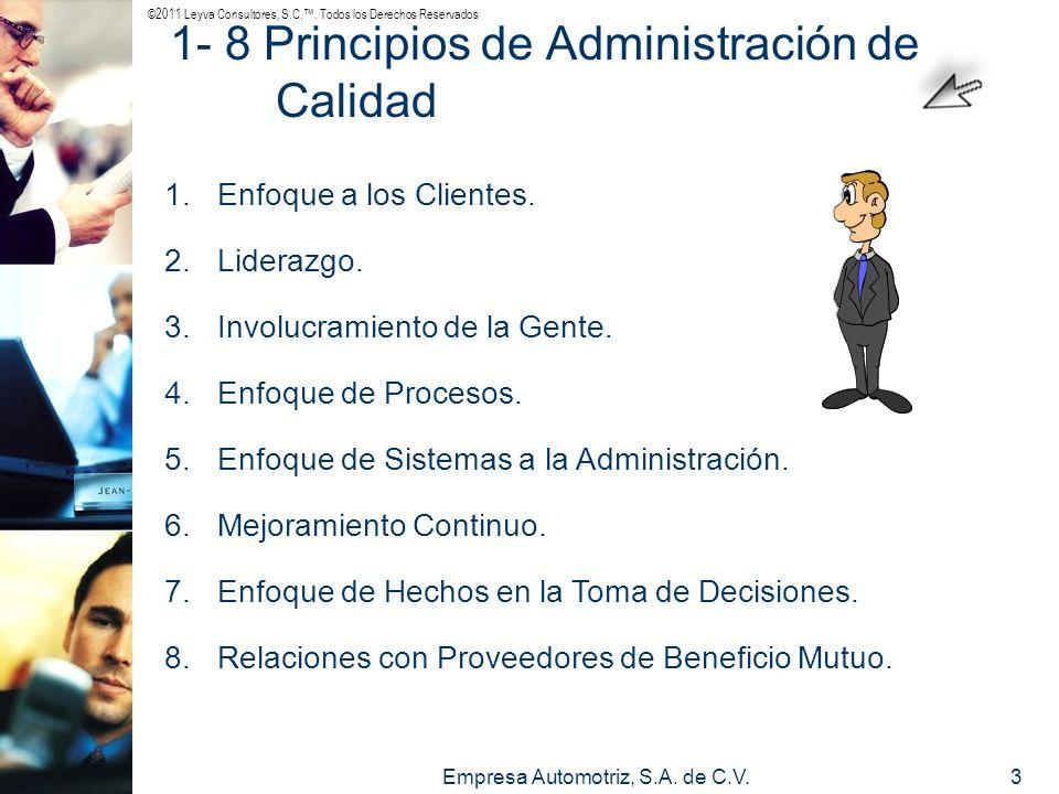 1- 8 Principios de Administración de Calidad
