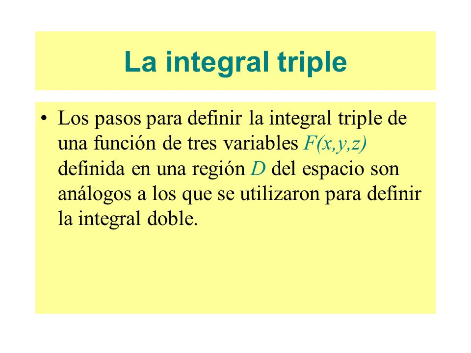 La integral triple