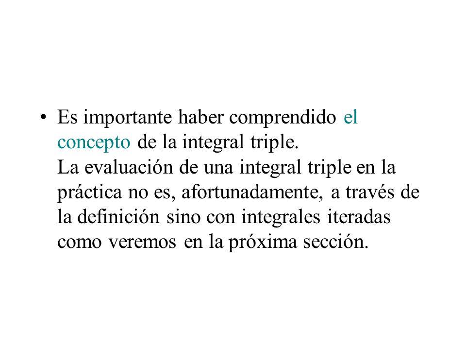 Es importante haber comprendido el concepto de la integral triple
