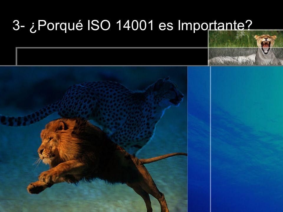 3- ¿Porqué ISO 14001 es Importante