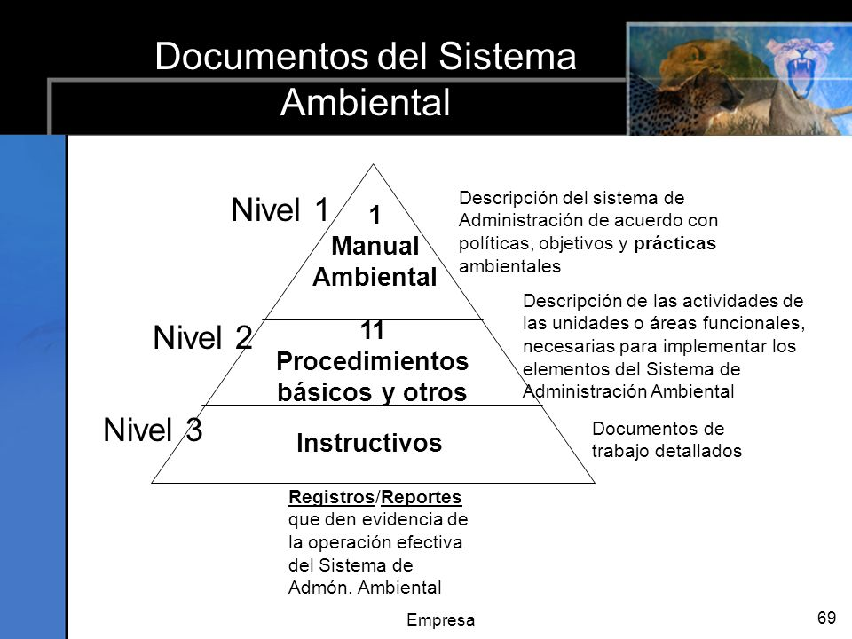 Documentos del Sistema Ambiental