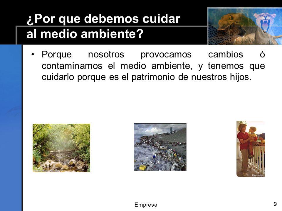 ¿Por que debemos cuidar al medio ambiente