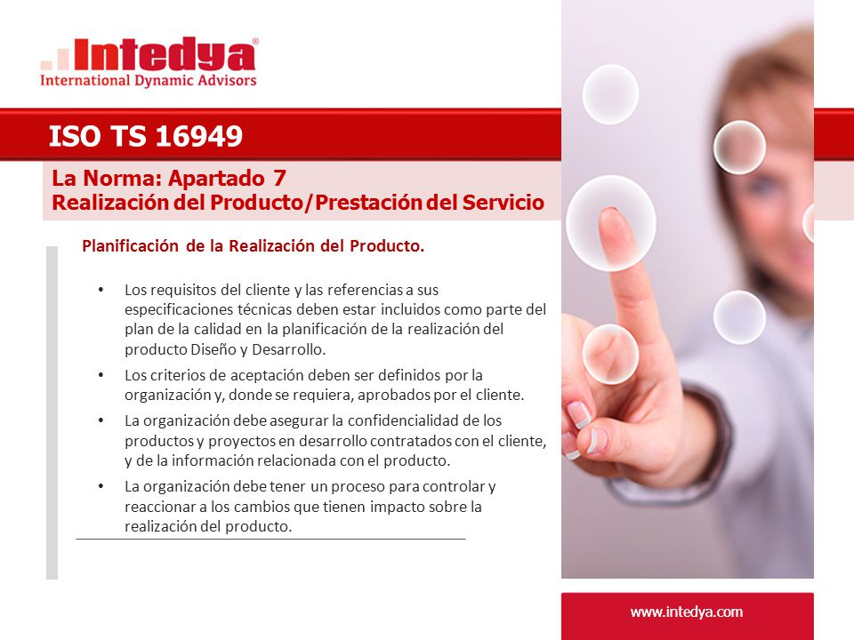 ISO TS 16949 La Norma: Apartado 7