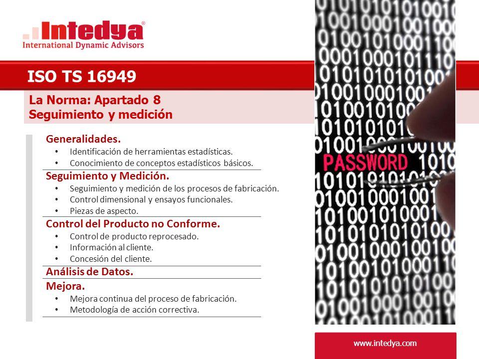 ISO TS 16949 La Norma: Apartado 8 Seguimiento y medición