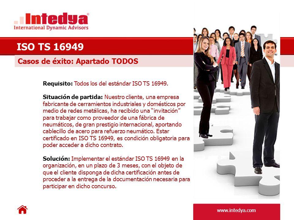 ISO TS 16949 Casos de éxito: Apartado TODOS
