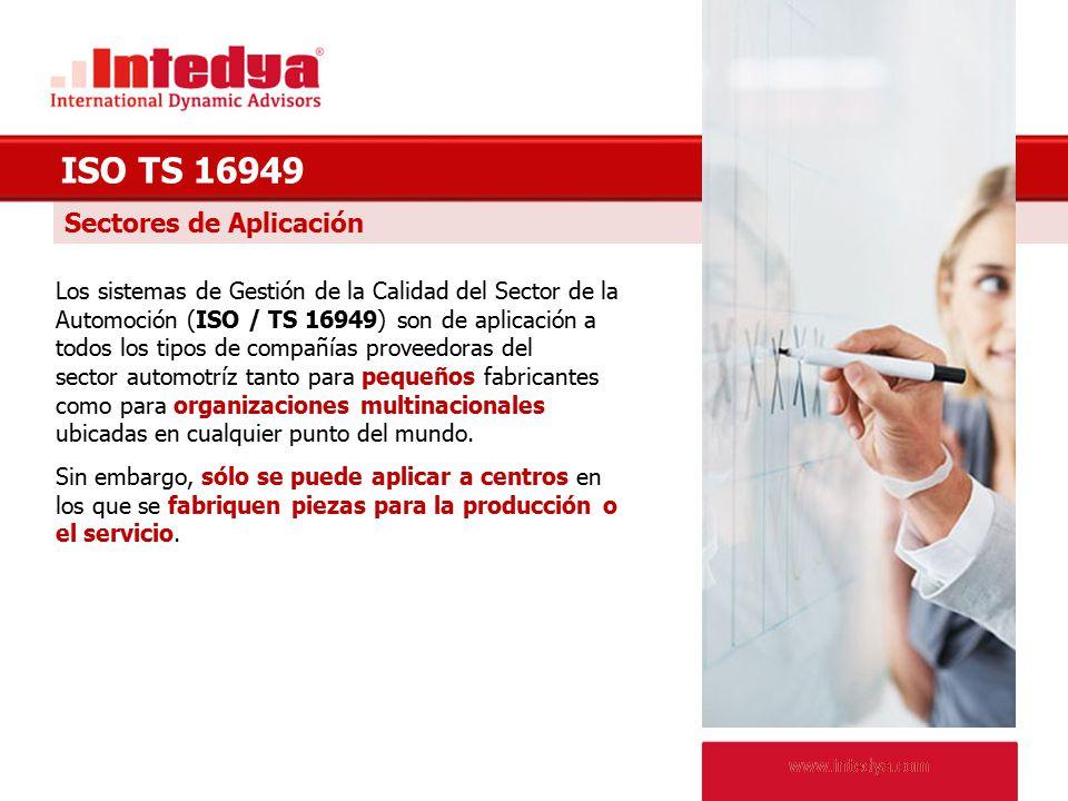 ISO TS 16949 Sectores de Aplicación