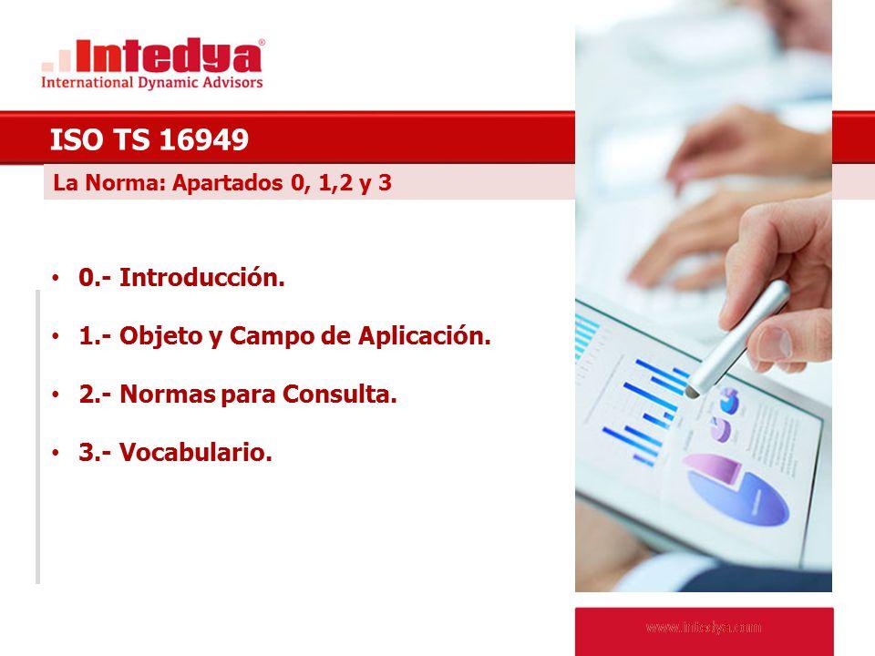 ISO TS 16949 0.- Introducción. 1.- Objeto y Campo de Aplicación.