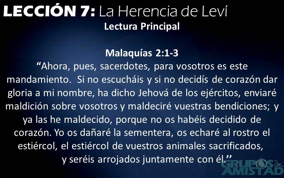 LECCIÓN 7: La Herencia de Leví