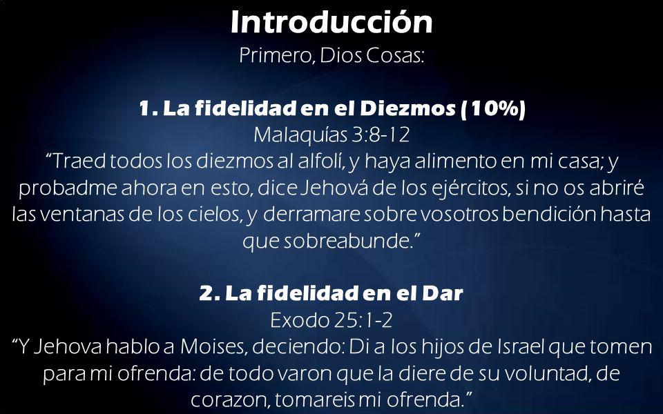 Introducción Primero, Dios Cosas: 1