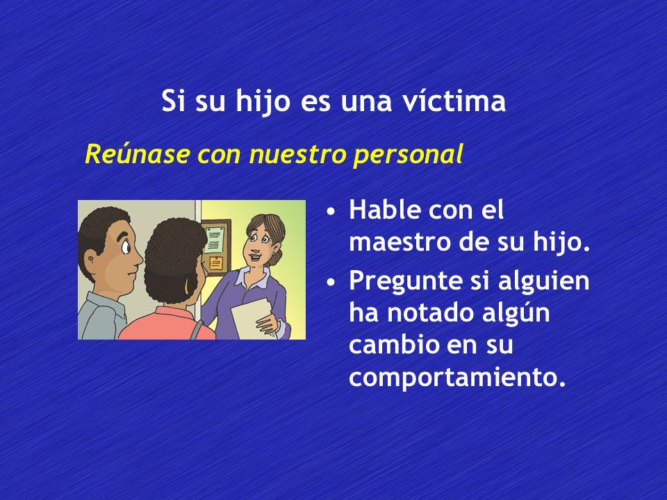 Si su hijo es una víctima