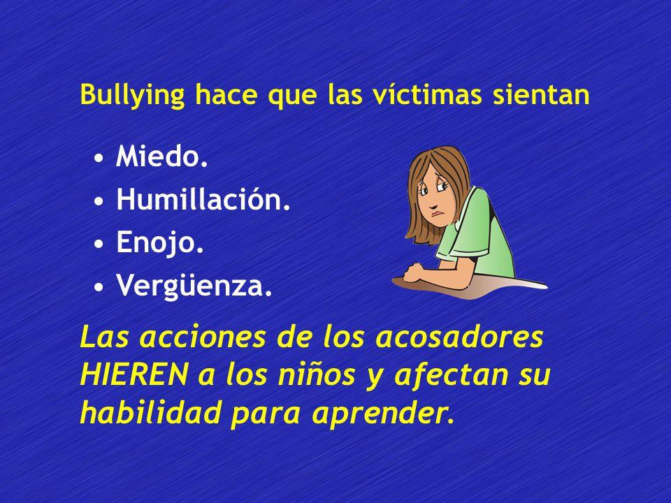 Bullying hace que las víctimas sientan