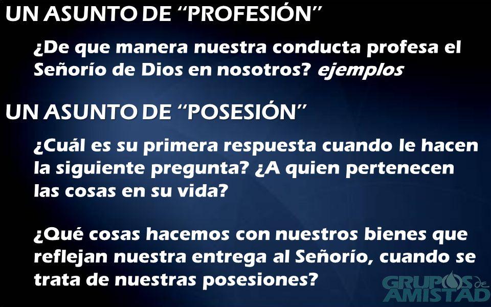 UN ASUNTO DE ''PROFESIÓN''